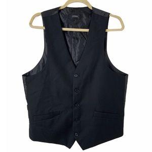 Angelo Rossi Medium Men's Black Button Front Vest